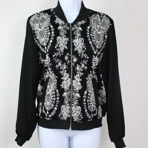 Society Girl SM Embroidered Bomber Jacket